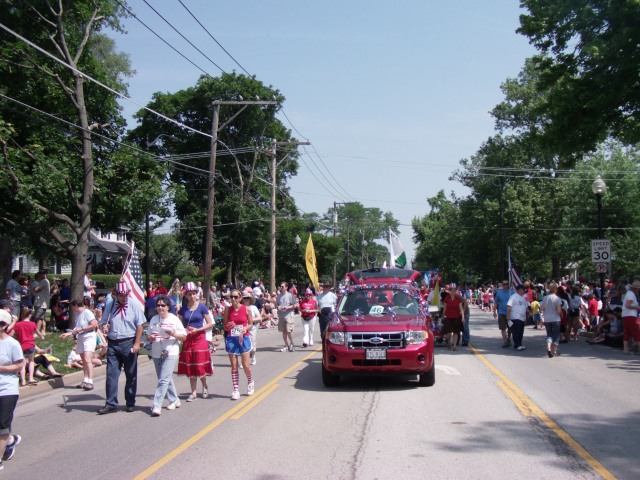 West Suburban Patriots march in Wheaton Fourth of July Parade